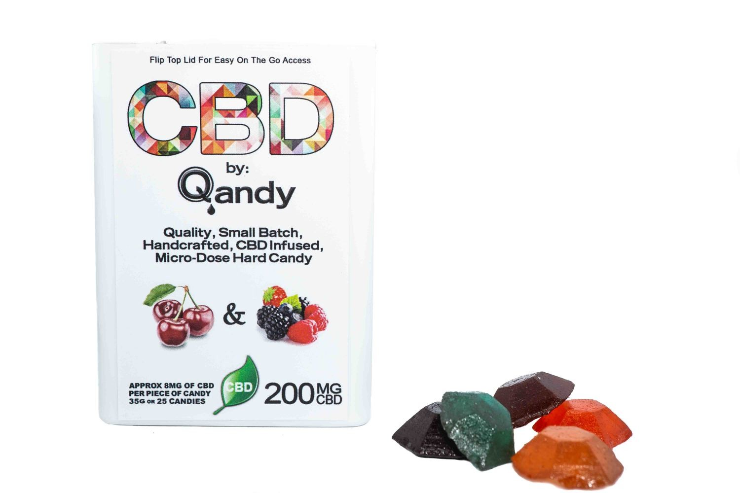 (200mg CBD) Cherries & Berries By Qandy (Vegan/Gluten Free)