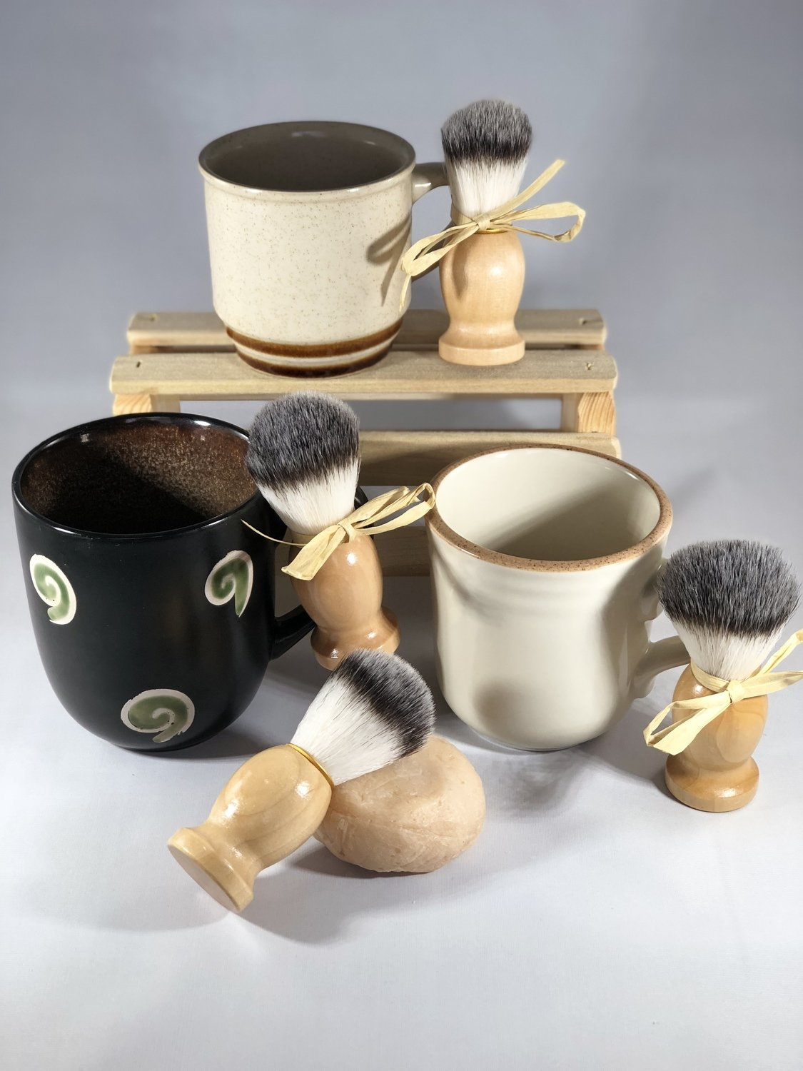 Shave Soap Mug Gift Set (Scented in Rustic Woods and Rum)