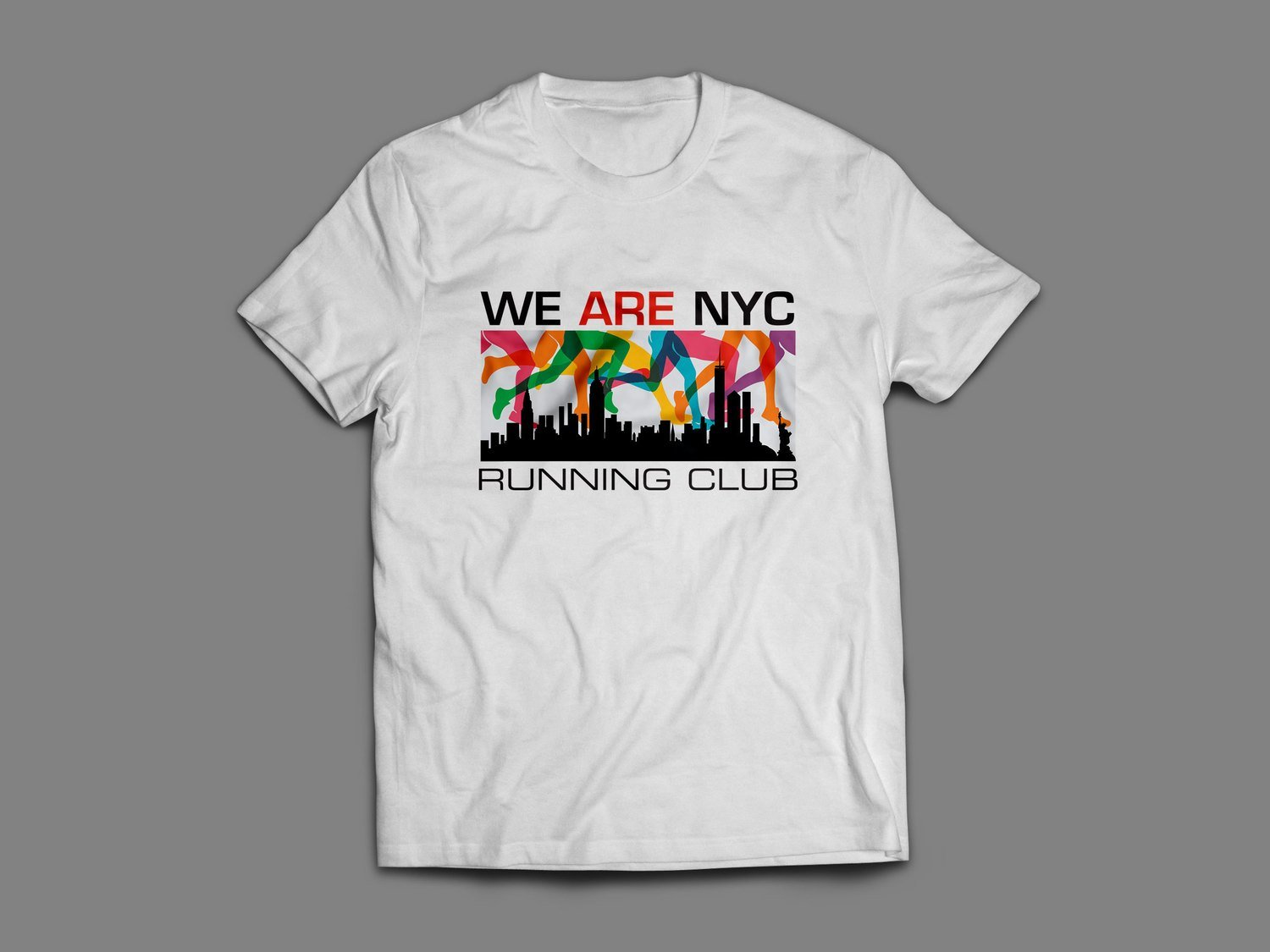 "WE ARE NYC ""RAINBOW LEGS"" SHORT SLEEVE T-SHIRT (black or white)"