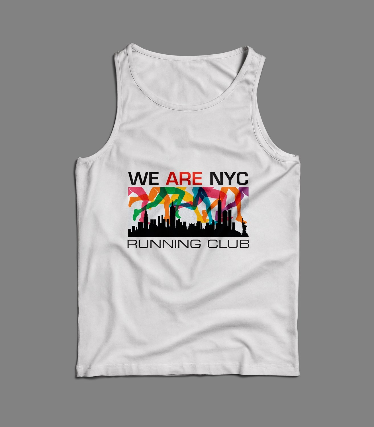 "WE ARE NYC ""RAINBOW LEGS TANK/SINGLET"