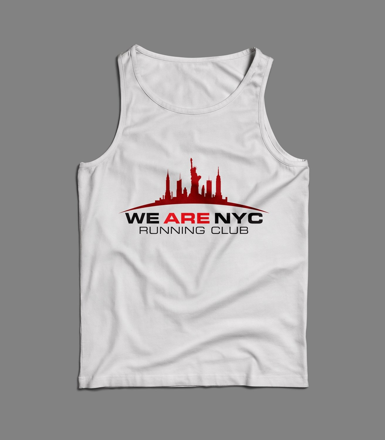 WE ARE NYC OFFICIAL RACE DAY LOGO TANK/SINGLET