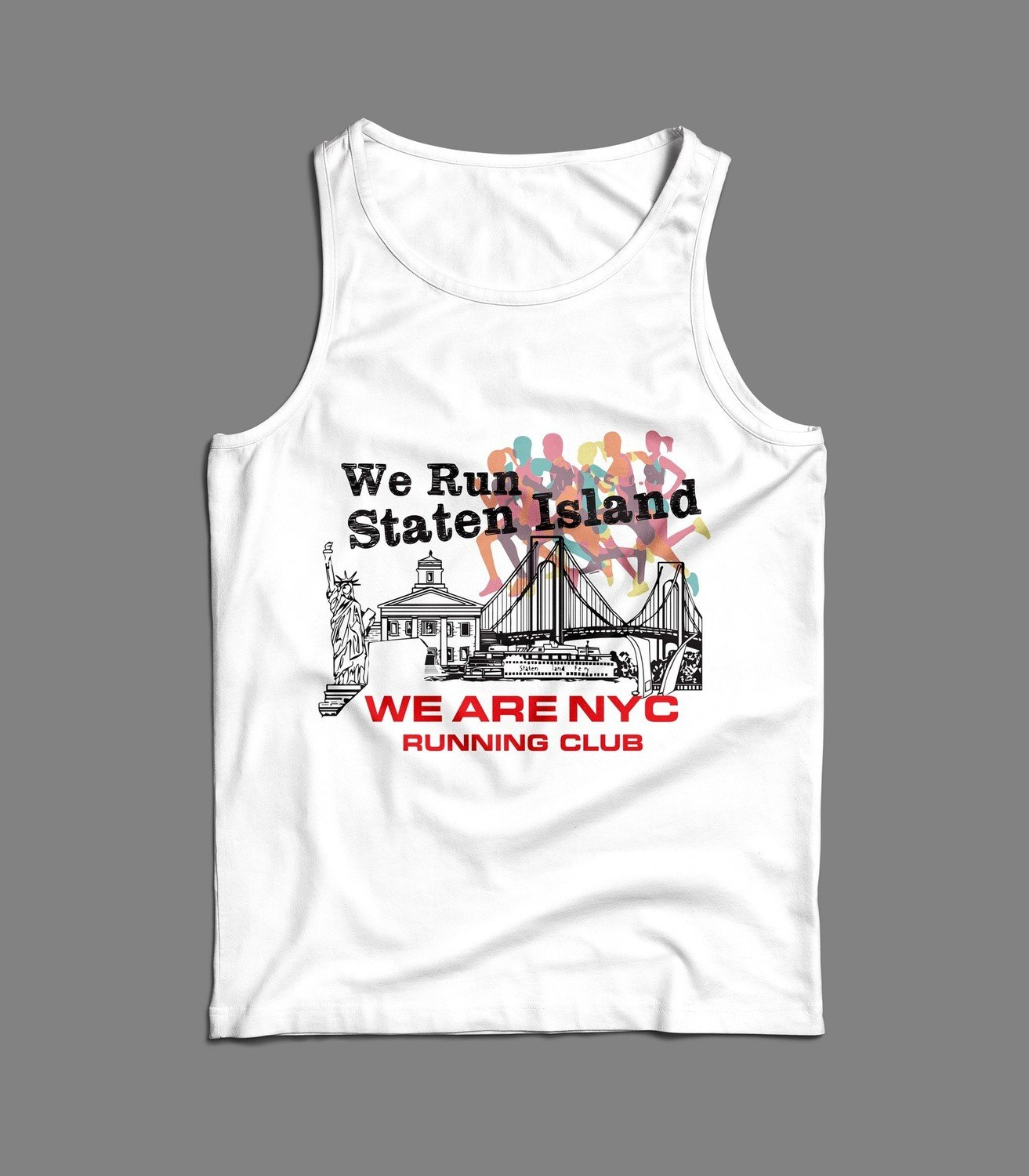 "WE ARE NYC - STATEN ISLAND ""RAINBOW"" TANK / SINGLET"