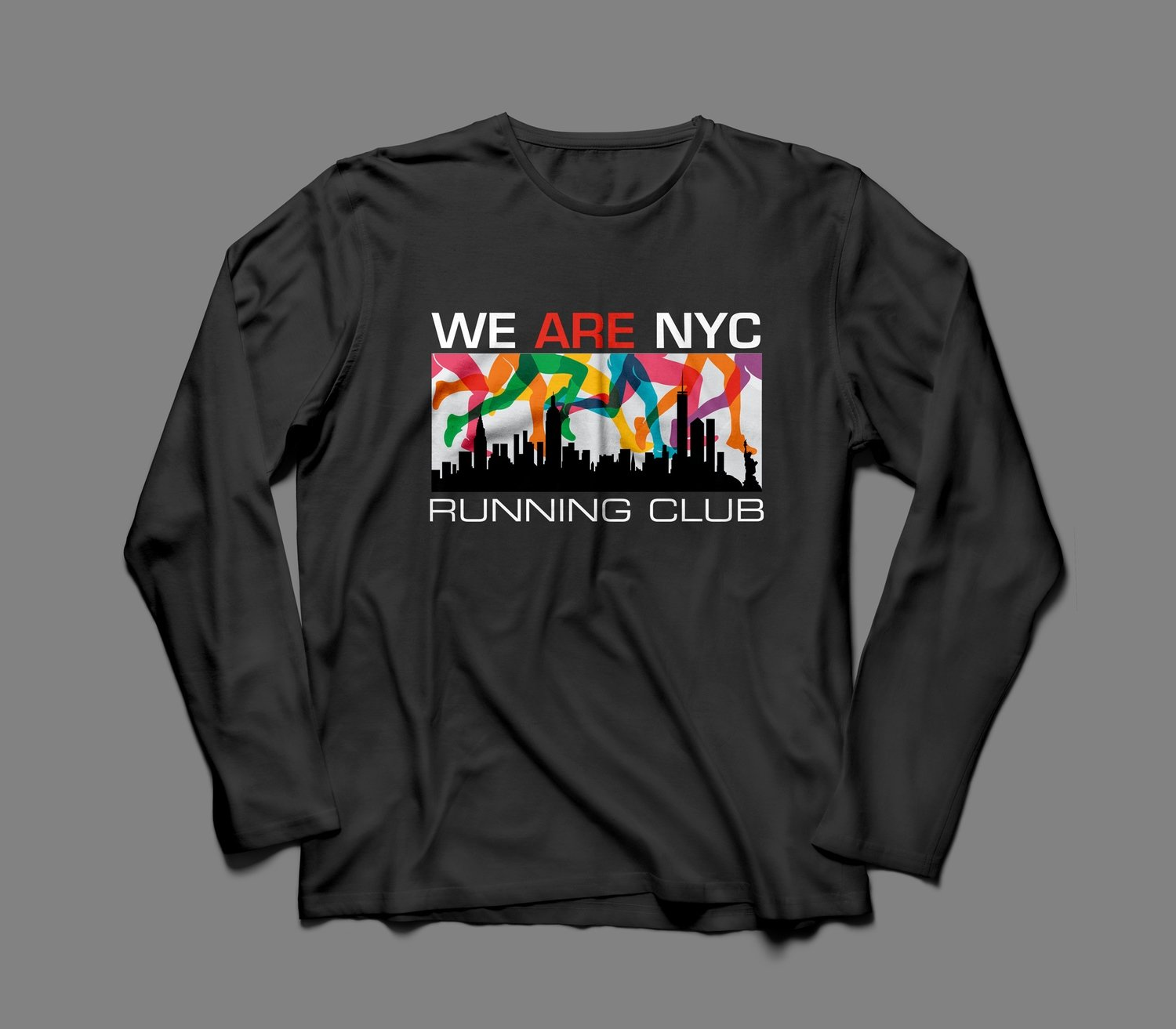 "WE ARE NYC ""RAINBOW LEGS"" LONG SLEEVE SHIRT (black or white)"