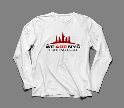 WE ARE NYC OFFICIAL RACE DAY LONG SLEEVE T-SHIRT (black or white)