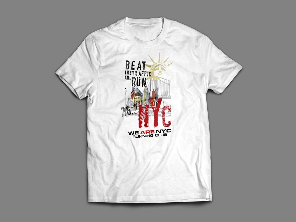 "WE ARE NYC NYC MARATHON ""LADY LIBERTY RED NYC"" T-SHIRT"
