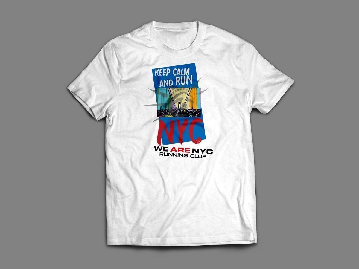 "WE ARE NYC NYC MARATHON ""KEEP CALM & RUN"" T-SHIRT"