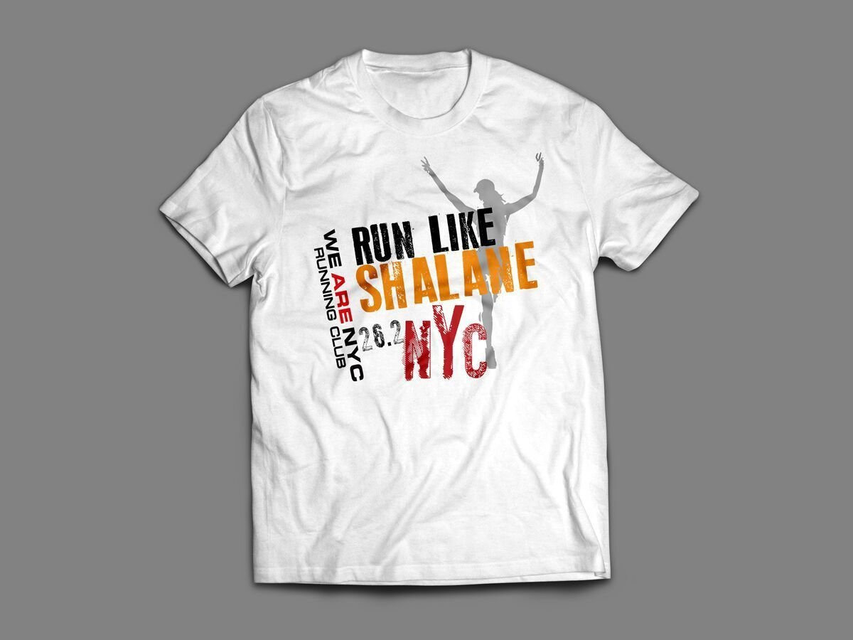 "WE ARE NYC NYC MARATHON ""RUN LIKE SHALANE"" T-SHIRT"