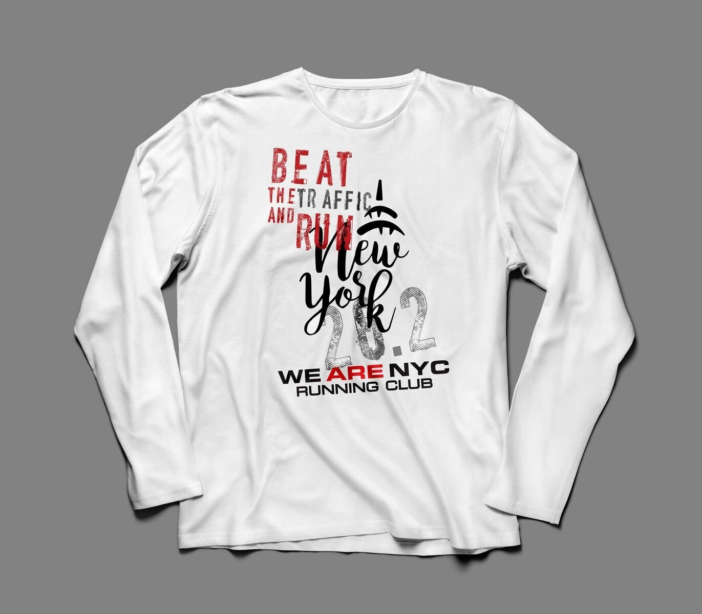 "WE ARE NYC NYC MARATHON ""EMPIRE STATE"" LONG SLEEVE TEE"
