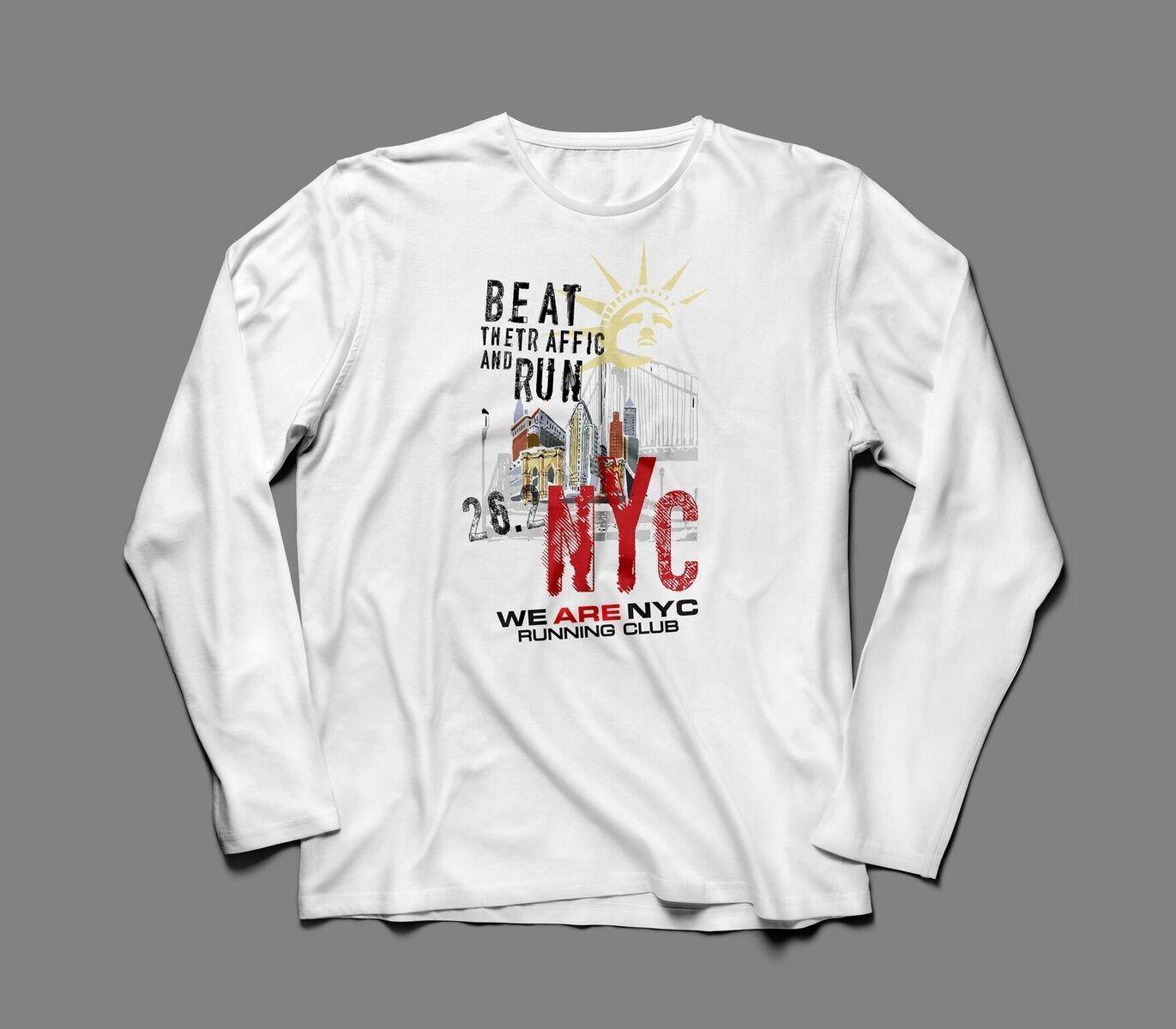 "WE ARE NYC NYC MARATHON ""LADY LIBERTY RED NYC"" LONG SLEEVE TEE"