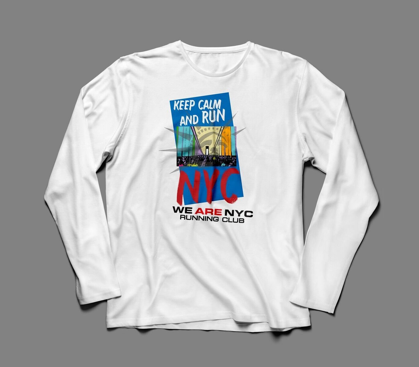 "WE ARE NYC NYC MARATHON ""KEEP CALM & RUN"" LONG SLEEVE TEE"