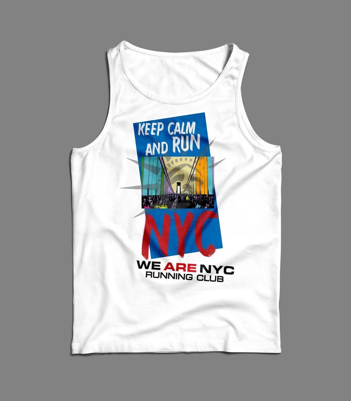"WE ARE NYC NYC MARATHON ""KEEP CALM AND RUN"" SINGLET / TANK"