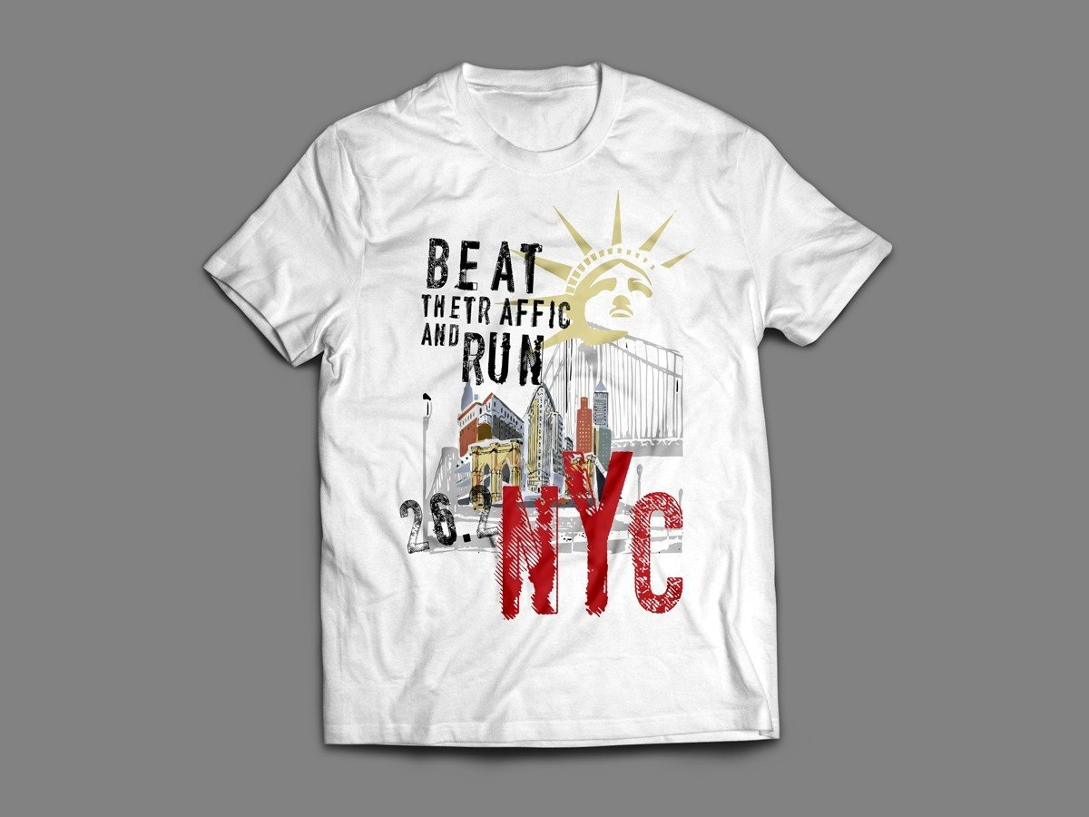 "NYC MARATHON ""BEAT THE TRAFFIC"" T-SHIRT (SINGLET & LONG SLEEVE AVAILABLE ALSO!)"