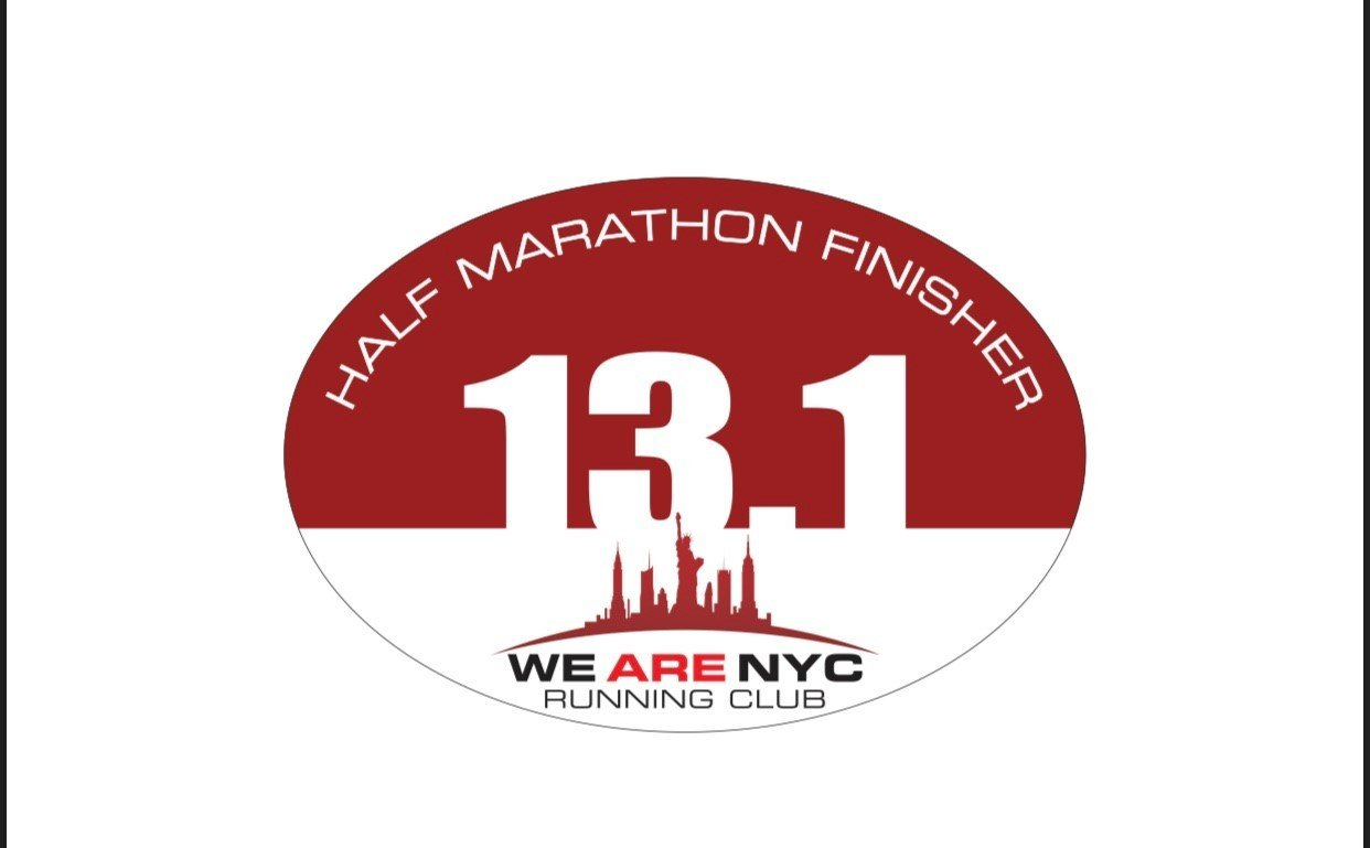 "WE ARE NYC RUNNING CLUB ""13.1 HALF-MARATHON FINISHER"""