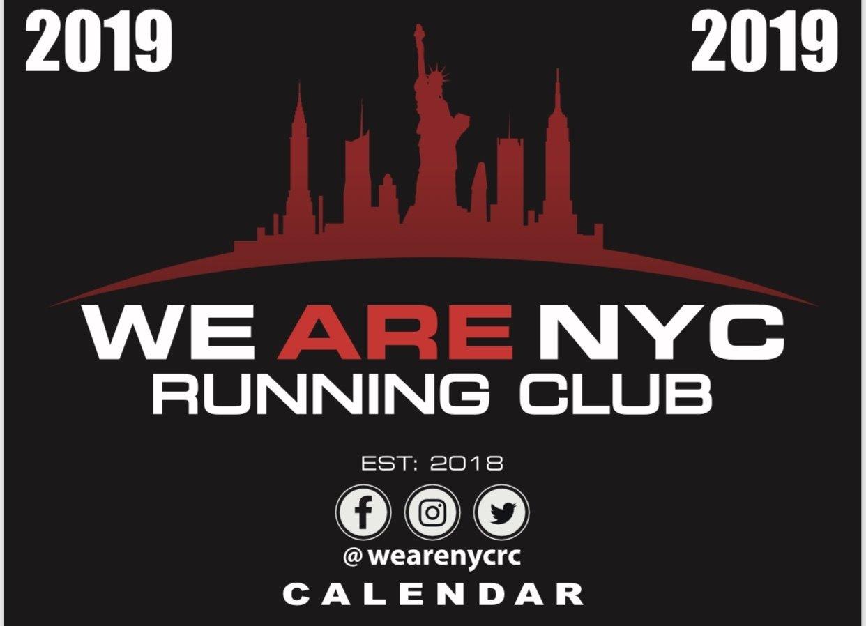 WE ARE NYC RUNNING CLUB 2019 WALL CALENDAR