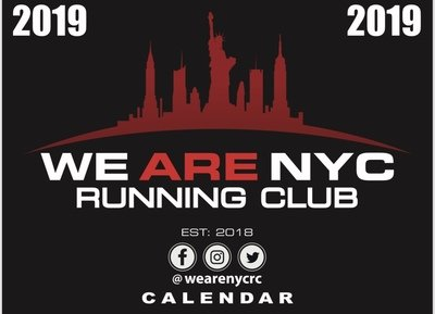 WE ARE NYC RUNNING CLUB 2019 WALL CALENDAR