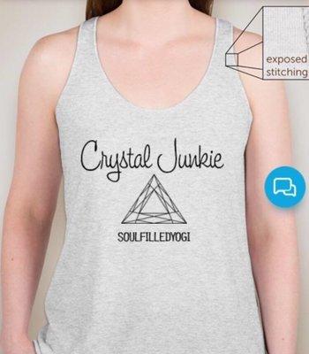 Soul Filled Yogi Crystal Junkie Racerback T-Shirt