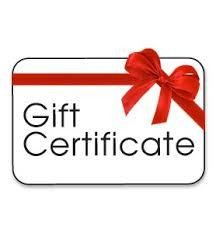 GIFT CERTIFICATE FOR $25
