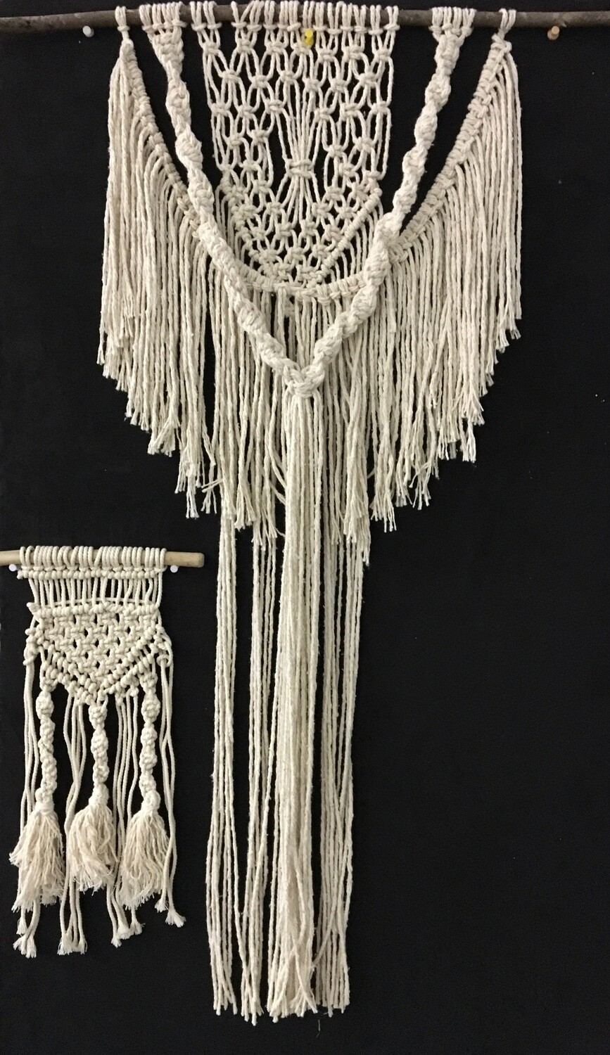 MACRAME  One-day Workshop -  Saturday NOVEMBER 16TH, 2019  MACRAME WALL HANGERS.