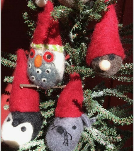 Needle Felting One-day Workshop -  Saturday NOVEMBER 23, 2019-  CUDDLY CHRISTMAS CREATURES!!