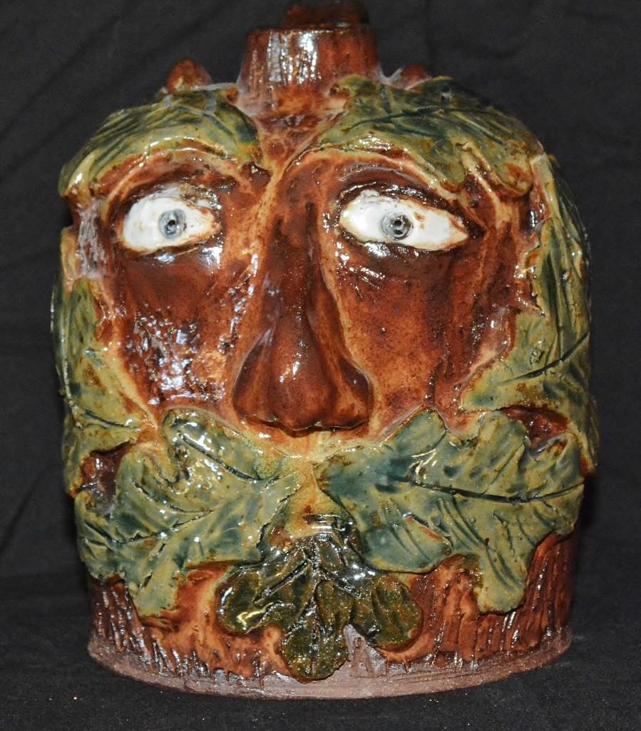 Leaf Face Jug