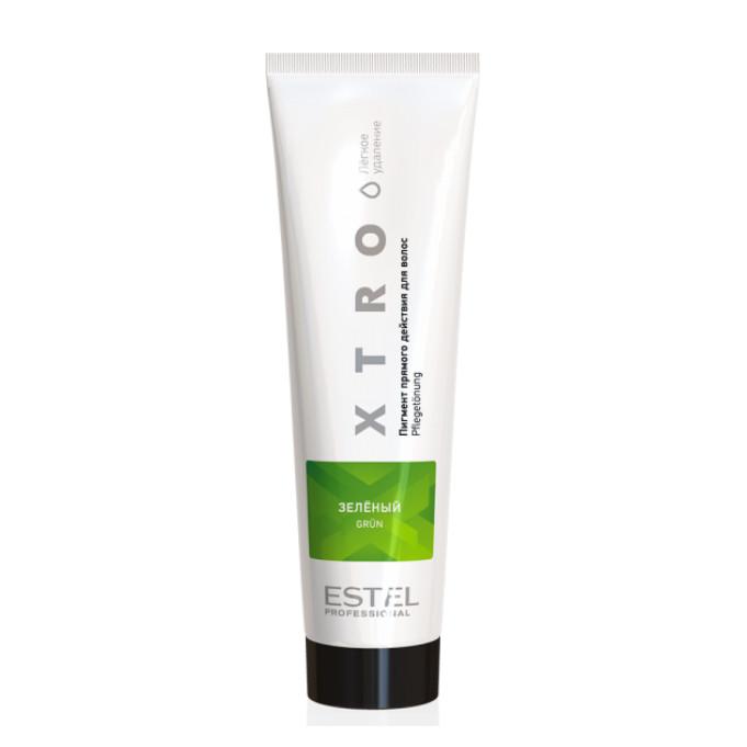 Пигмент прямого действия для волос XTRO BLACK Зеленый, 100мл