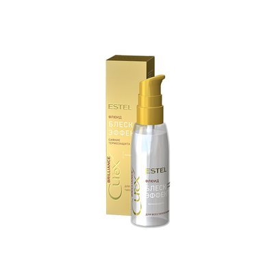 Флюид-блеск c термозащитой для всех типов волос ESTEL CUREX BRILLIANCE, 100мл