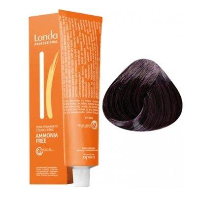 Крем-краска Londa Color интенсивное тонирование для волос 3/6 Темный шатен фиолетовый, 60мл