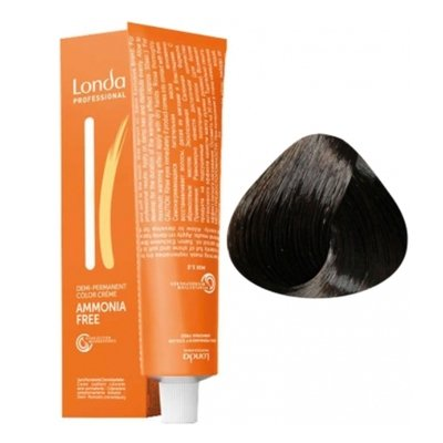 Крем-краска Londa Color интенсивное тонирование для волос 4/71 Шатен коричнево-золотистый, 60мл