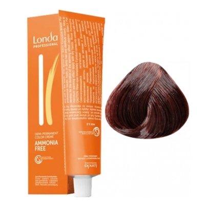 Крем-краска Londa Color интенсивное тонирование для волос 5/57 Светлый шатен красно-коричневый, 60мл