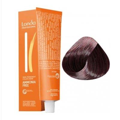 Крем-краска Londa Color интенсивное тонирование для волос 5/66 Светлый шатен интенсивно-фиолетовый, 60мл