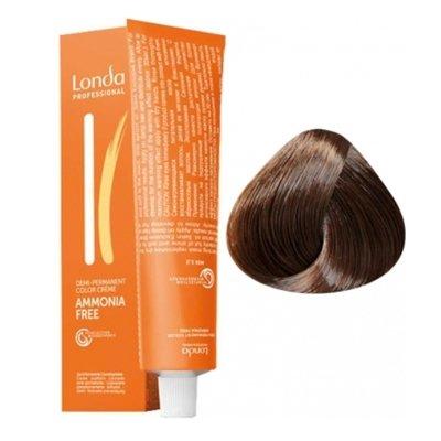 Крем-краска Londa Color интенсивное тонирование для волос 6/71 Темный блонд коричнево-пепельный, 60мл