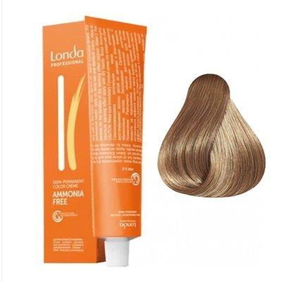 Крем-краска Londa Color интенсивное тонирование для волос 8/07 Светлый блондин Extra-Coverage, 60мл