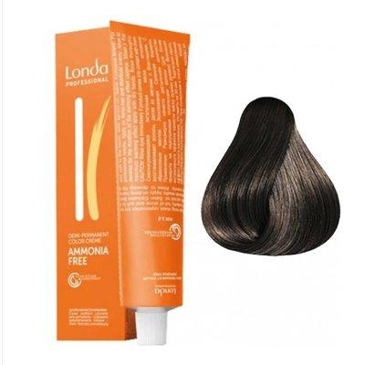 Крем-краска Londa Color интенсивное тонирование для волос 4/07 Шатен Extra-Coverage, 60мл