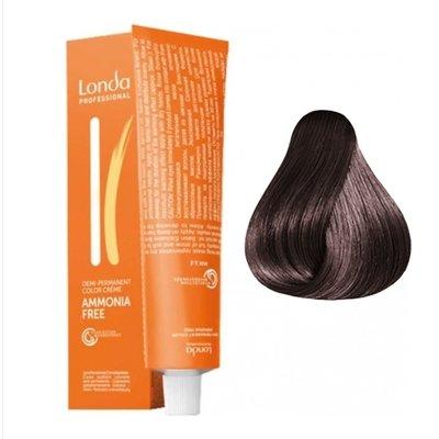 Крем-краска Londa Color интенсивное тонирование для волос 5/07 Светлый шатен Extra-Coverage, 60мл