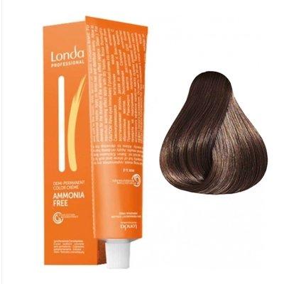 Крем-краска Londa Color интенсивное тонирование для волос 6/07 Темный блондин Extra-Coverage, 60мл