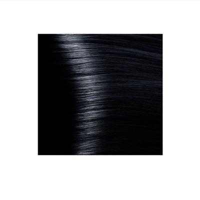 Крем-краска для волос KAPOUS HYALURONIC ACID 1.1 иссиня-черный 100мл.