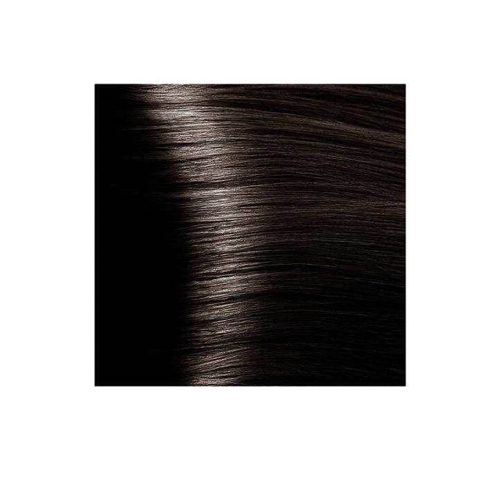 Крем-краска для волос KAPOUS HYALURONIC ACID 4.07 коричневый натуральный холодный  100мл.