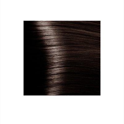 Крем-краска для волос KAPOUS HYALURONIC ACID 4.81 коричневый какао пепельный 100мл.