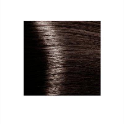 Крем-краска для волос KAPOUS HYALURONIC ACID 5.81 светлый коричневый шоколадно-пепельный 100мл.