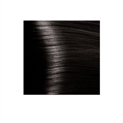 Крем-краска для волос KAPOUS HYALURONIC ACID 3.00 темно-коричневый интенсивный 100мл.