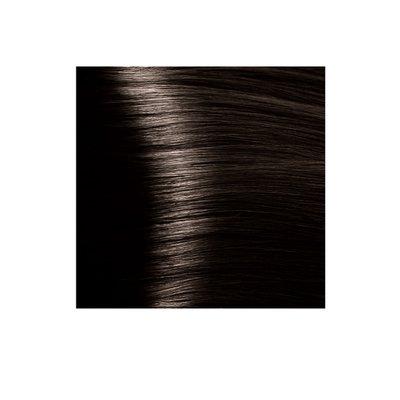 Крем-краска для волос KAPOUS HYALURONIC ACID 4.0 коричневый   100мл.