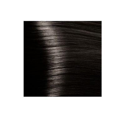 Крем-краска для волос KAPOUS HYALURONIC ACID 4.00 коричневый интенсивный   100мл.