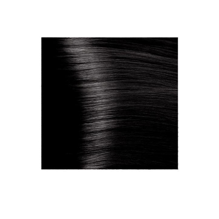 Крем-краска для волос KAPOUS HYALURONIC ACID 4.18 коричневый лакричный  100мл.