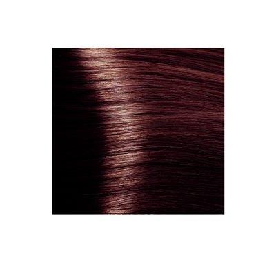 Крем-краска для волос KAPOUS HYALURONIC ACID 4.5 коричневый махагоновый 100мл.