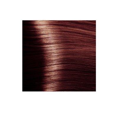 Крем-краска для волос KAPOUS HYALURONIC ACID 5.5 светлый коричневый махагоновый 100мл.