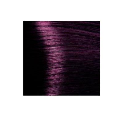 Крем-краска для волос KAPOUS HYALURONIC ACID 6.2 Темный блондин фиолетовый  100мл.