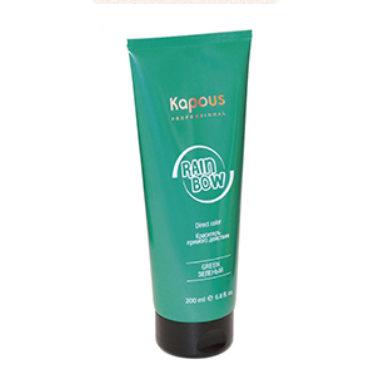 KAPOUS RAINBOW Краситель прямого действия для волос «Зеленый», 200мл