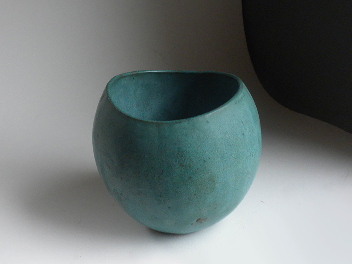 One of a Kind Prototype Vase in Verdigris by Weston Neil Andersen