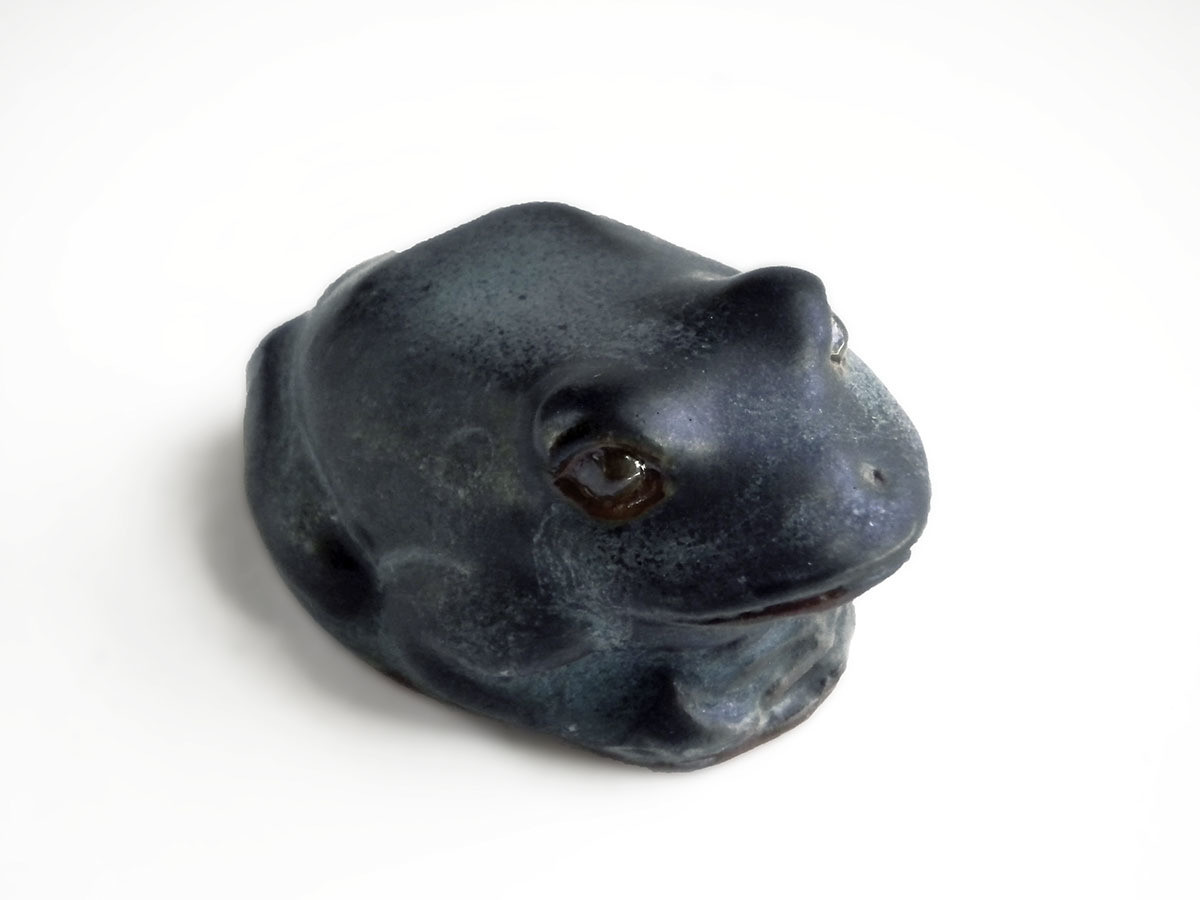 Frog, verdigris
