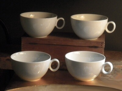 Set of four Rosenthal Cups in Glossy white